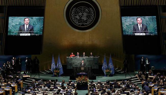 Ator Leonardo DiCaprio falou sobre a mudança climática durante o Acordo de Paris - Foto: Mike Segar l Reuters