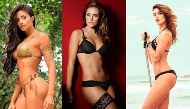 Aline Riscado, Paolla Oliveira e Thaila Ayala foram as escolhidas pelo craque - Foto: Divulgação