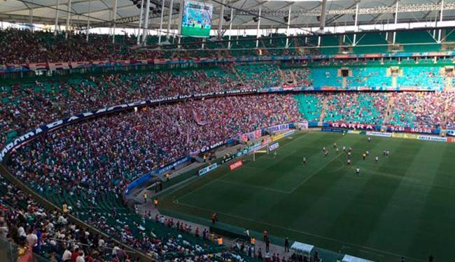 Vista da torcida na Arena Fonte Nova - Foto: Divulgação   @ECBahia