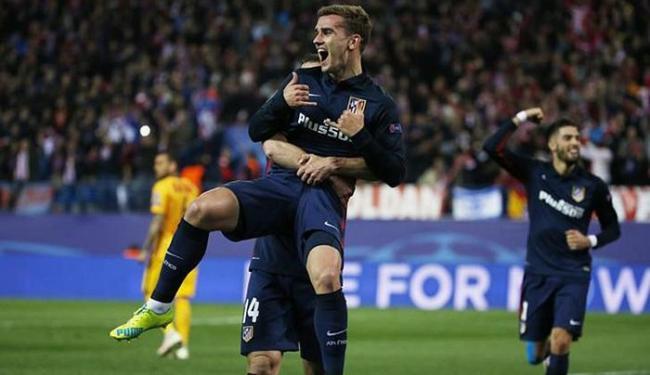 Griezmann comemora gol do Atlético de Madrid sobre o Barcelona - Foto: Sergio Perez l Reuters