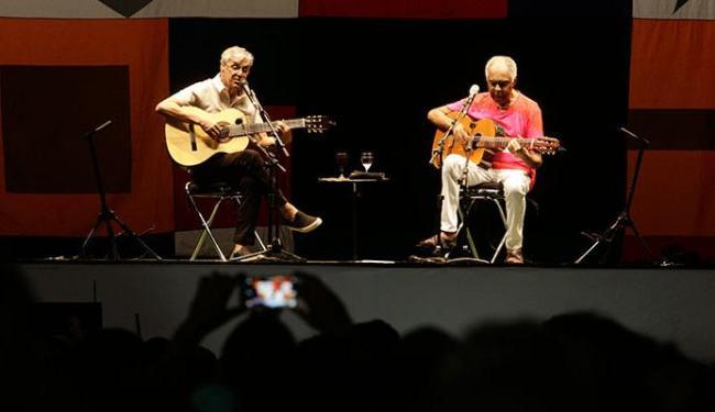 Caetano e Gil apresentaram turnê comemorativa aos 50 anos de carreira dos dois - Foto: Edilson Lima | Ag. A TARDE