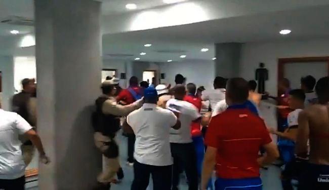 Briga aconteceu após a derrota do Bahia na Arena Fonte Nova - Foto: Vitor Villar | Ag. A TARDE