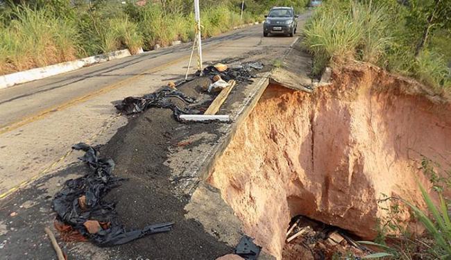 BA-826, estrada de acesso ao aeroporto do município - Foto: Miriam Hermes l Ag. A TARDE