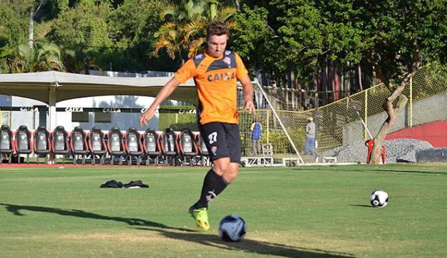 Atacante vem em evolução e tem agradado ao técnico Vagner Mancini nos treinos da Toca do Leão - Foto: Francisco Galvão l EC Vitória