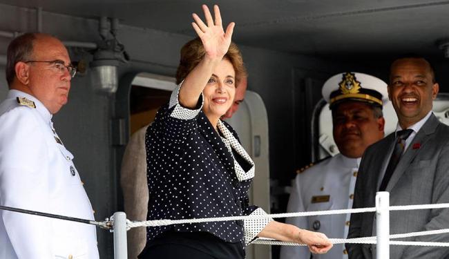 Dilma Rousseff participou de solenidade no Porto de Salvador - Foto: Lúcio Távora | Ag. A TARDE
