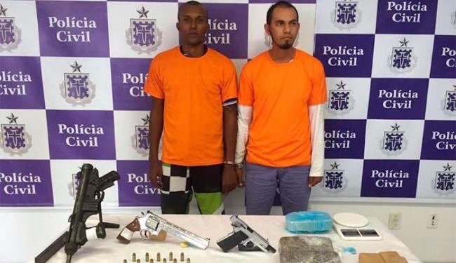 A dupla responde a processo por tráfico de drogas e porte ilegal de arma - Foto: Divulgação | PC