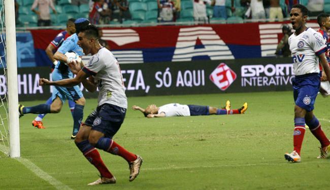 Juninho foi o autor do gol de empate que deu tranquilidade ao Tricolor - Foto: Margarida Neide | Ag. A TARDE