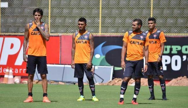 Victor Ramos, Kieza, José Welison e Ramon se mantiveram focados no jogo - Foto: Francisco Galvão / ECV