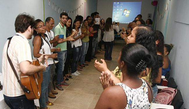 Apresentação musical marcou a inauguração da biblioteca da unidade de saúde - Foto: Mila Cordeiro l Ag. A TARDE