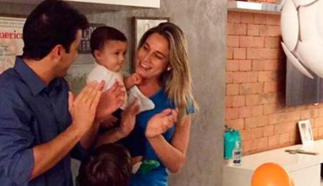 Fernanda Gentil com o filho de 8 meses e o ex-marido - Foto: Reprodução | Instagram