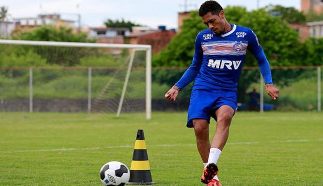 Atacante já balançou as rede oito vezes em sete jogos oficiais com a camisa do Bahia - Foto: Felipe Oliveira l EC Bahia