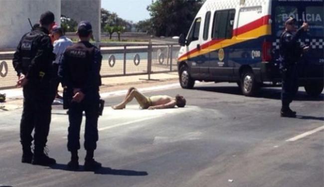 O homem teve mais de 70% do corpo queimados - Foto: CBMDF | Divulgação