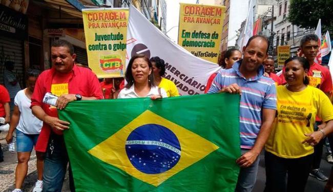 Manifestação dos comerciários no Centro de Salvador - Foto: Edilson Lima | Ag. A TARDE