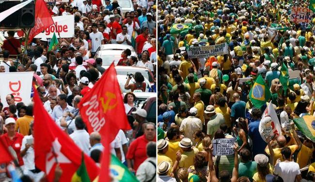 Movimentos a favor e contra o impeachment vão se reunir no domingo - Foto: Margarida Neide e Raul Spinassé | Ag. A TARDE