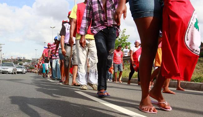 Nesta terça, 5, o MST promove passeatas em dez municípios na Bahia - Foto: Edilson Lima   Ag. A TARDE