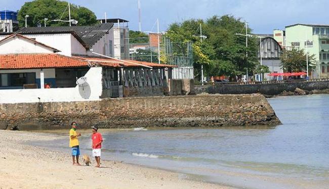 Praia da Penha é uma das impróprias neste fim de semana - Foto: Luciano da Matta | Ag. A TARDE
