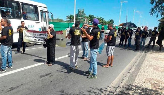 O motivo do protesto é o atraso na nomeação e convocação para concurso público realizado em 2014 - Foto: Divulgação | Sinspeb