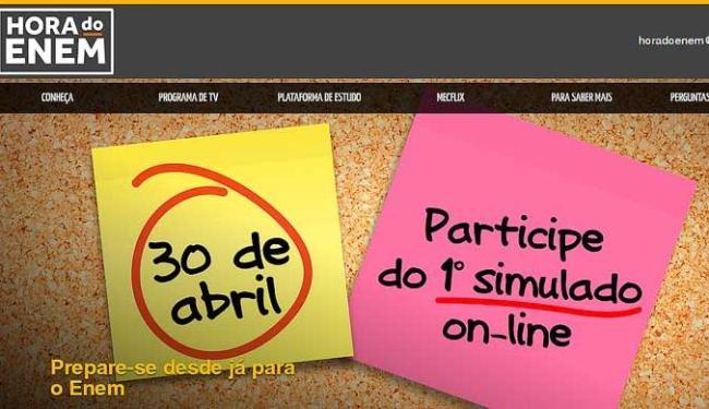 Conteúdo deste primeiro provão vai priorizar o conteúdo ensinado nas escolas até o mês de abril - Foto: Reprodução