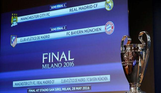 A decisão da Liga está marcada para o dia 28 de maio, em Milão, no estádio San Siro - Foto: Denis Balibouse | Ag. Reuters