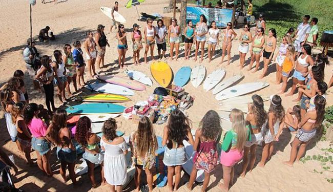 Primeira atividade pré-mundial de surf feminino reuniu, no domingo, 17, mais de 40 surfistas em Stel - Foto: Luca Castro l Taurus Comunicação