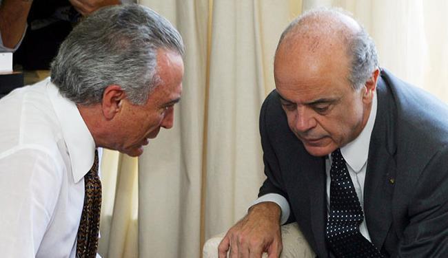 Temer escolheu Serra como seu braço de interlocução com o empresariado - Foto: Orlando Brito | 09/10/2012 | Agência Brasil