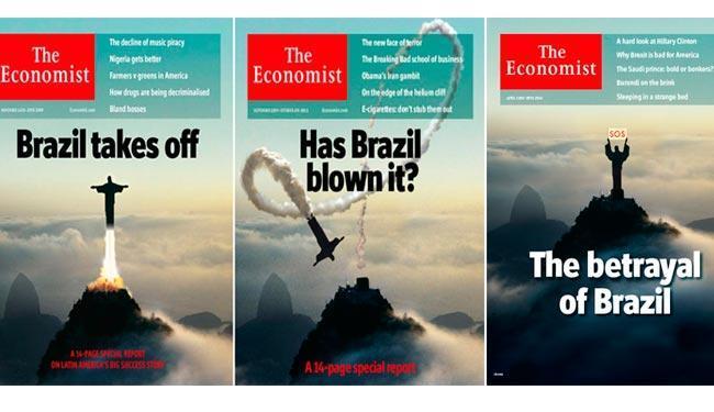 A capa desta semana (à direita) ao lado de outras que foram destaque da revista em outras edições - Foto: Reprodução