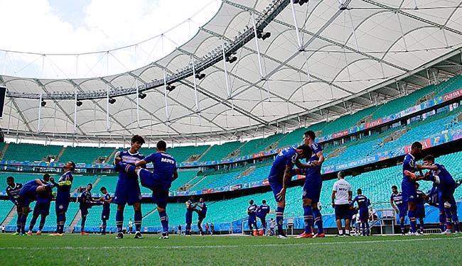 Fonte Nova volta a receber o Tricolor da capital três dias após a queda no Nordestão - Foto: Felipe Oliveira l EC Bahia
