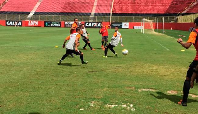 Os jogadores realizaram treino técnico no campo do Barradão - Foto: Divulgação | E.C.Vitória