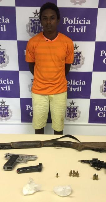 Ronald Ferreira era responsável por guardar as armas e drogas da quadrilha de Deninho ''Demônio'' - Foto: Ascom-Polícia Civili/ Divulgação