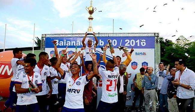 Em Pituaçu, Tricolor conquistou seu 17º título estadual de juniores, com o melhor ataque: 47 gols - Foto: Felipe Oliveira l EC Bahia