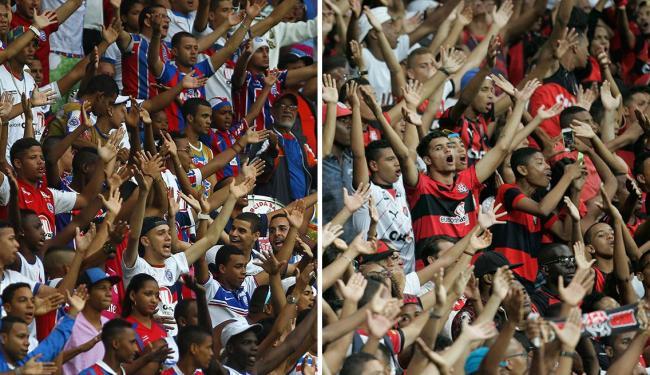 Torcidas vão testemunhar mais um duelo neste domingo - Foto: Eduardo martins | Lúcio Távora | Ag. A TARDE