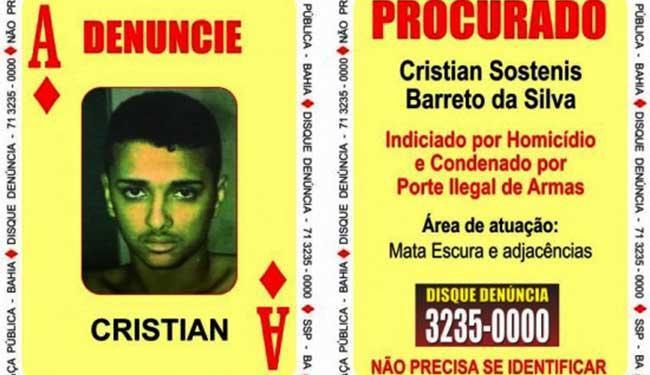 Cristian morreu durante confronto com a polícia na manhã desta terça - Foto: Divulgação | SSP
