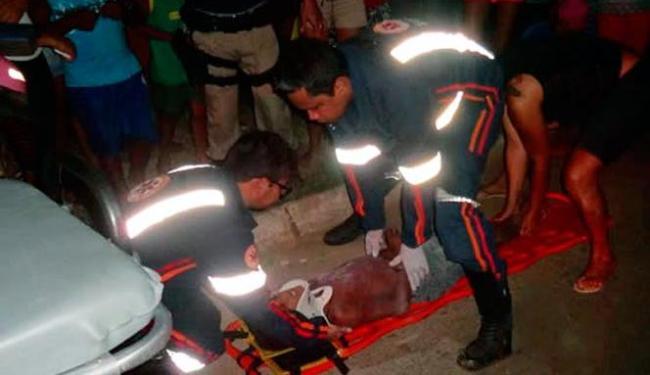 Criança foi socorrida pelo Samu e foi levada para o Hospital do Oeste - Foto: Reprodução | Blog do Sigi Vilares