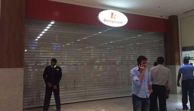 Loja foi fechada apenas por segurança - Foto: Iracema Chequer   Ag. A TARDE