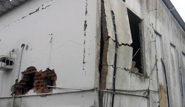 Explosões danificaram estrutura da agência bancária - Foto: Reprodução   Site Coração Notícias