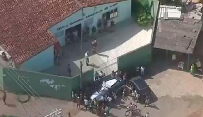 A professora Sandra foi assassinada pelo marido na Escola Esperança de Viver - Foto: Reprodução   TV Bahia