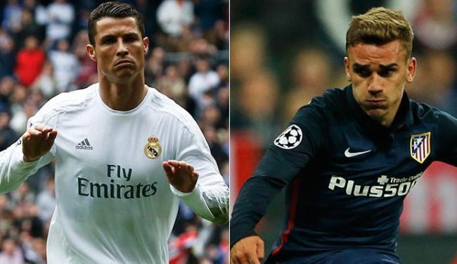 Artilheiros e estrelas dos times, Ronaldo e Griezmann são esperanças de gols na grande decisão - Foto: Paul Hanna e Michaela Rehle l Reuters