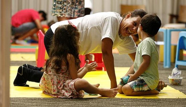 Brincadeiras entre mães e filhos foram realizadas no evento - Foto: Adilton Venegeroles l Ag. A TARDE