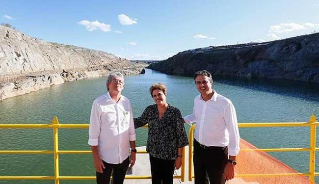 Dilma Rousseff durante cerimônia da visita à estação de bombeamento - Foto: Roberto Stuckert Filho | PR