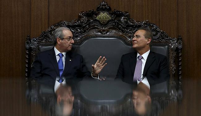 O presidente da Casa, Renan Calheiros (D) - Foto: Adriano Machado l Reuters