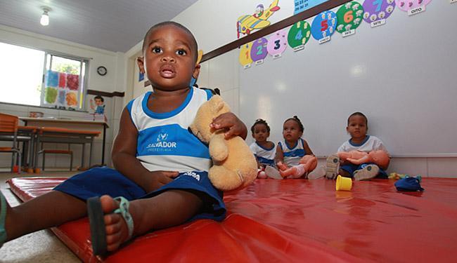 Crianças de 0 a 3 anos ficarão na unidade em tempo integral - Foto: Joá Souza l Ag. A TARDE