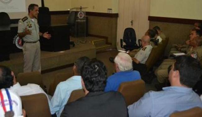 Esquema de segurança do clássico foi definida em reunião no Quartel do Comando Geral, nos Aflitos - Foto: DCS | PM
