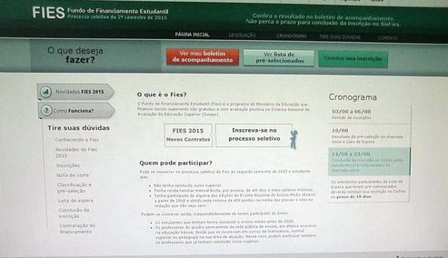 A renda que será exigida aos alunos para enquadramento no Fies ainda não foi informada - Foto: Iloma Sales   Ag. A TARDE