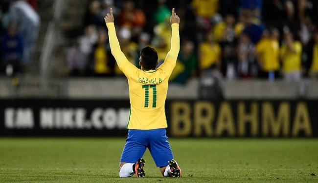Gabigol marcou o segundo gol da Seleção Brasileira - Foto: Ron Chenoy | Agência Reuters