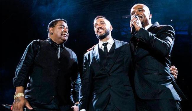 O grupo Gigantes do Samba é formado pelos cantores Luiz Carlos, Belo e Alexandre Pires - Foto: Reprodução   Facebook