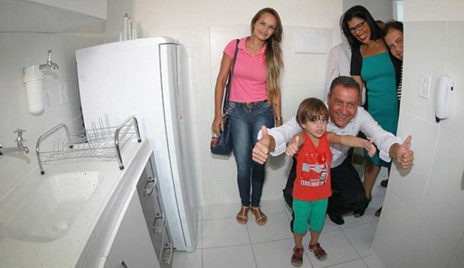 Governador Rui Costa participou da cerimônia de entrega das novas residências - Foto: Mateus Pereira l Gov-BA