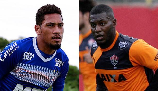Hernane e Amaral jogaram juntos por quase três anos no Flamengo - Foto: Eduardo Martins e Mila Cordeiro | Ag. A TARDE
