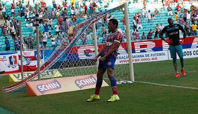 Autor de dez gols no ano, o atacante Hernane é o destaque do Bahia para Série B - Foto: Margarida Neide l Ag. A TARDE