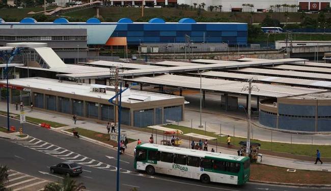 Vista da estação do Retiro, onde já há integração entre ônibus e metrô - Foto: Mila Cordeiro | Ag. A TARDE