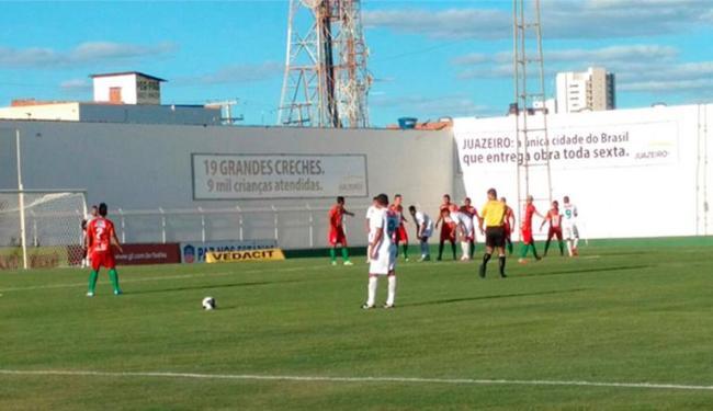 Disputada no Adauto Moraes, a partida terminou empatada com um gol para cada lado - Foto: Divulgação | Fluminense de Feira